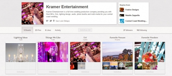 Kramer Entertainment Pinterest